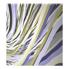 Wavy Ribbons Background Wallpaper Shower Curtain 66  X 72  (large)  by Nexatart