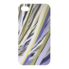 Wavy Ribbons Background Wallpaper Apple Iphone 4/4s Hardshell Case by Nexatart