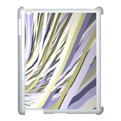 Wavy Ribbons Background Wallpaper Apple Ipad 3/4 Case (white) by Nexatart