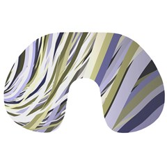 Wavy Ribbons Background Wallpaper Travel Neck Pillows
