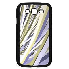 Wavy Ribbons Background Wallpaper Samsung Galaxy Grand Duos I9082 Case (black)