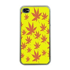 Autumn Background Apple Iphone 4 Case (clear)