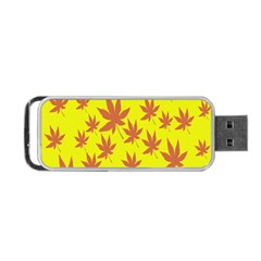 Autumn Background Portable Usb Flash (one Side) by Nexatart