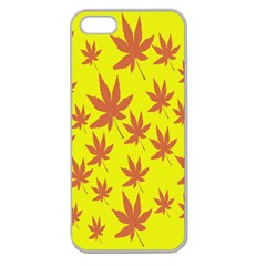 Autumn Background Apple Seamless Iphone 5 Case (clear) by Nexatart