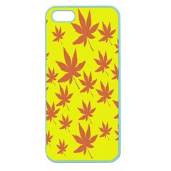 Autumn Background Apple Seamless Iphone 5 Case (color)