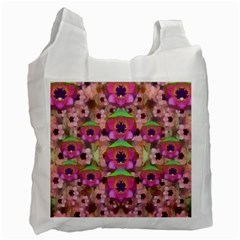 It Is Lotus In The Air Recycle Bag (two Side)  by pepitasart