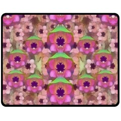 It Is Lotus In The Air Fleece Blanket (medium)  by pepitasart