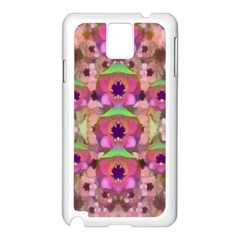 It Is Lotus In The Air Samsung Galaxy Note 3 N9005 Case (white) by pepitasart