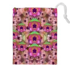 It Is Lotus In The Air Drawstring Pouches (xxl) by pepitasart