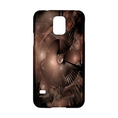 A Fractal Image In Shades Of Brown Samsung Galaxy S5 Hardshell Case  by Nexatart