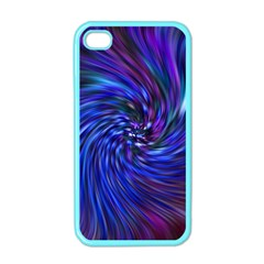 Stylish Twirl Apple Iphone 4 Case (color) by Nexatart