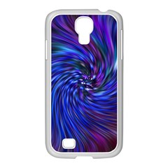 Stylish Twirl Samsung Galaxy S4 I9500/ I9505 Case (white) by Nexatart