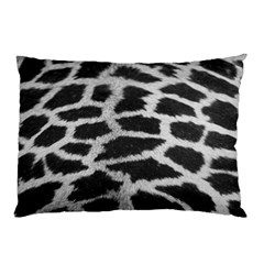 Black And White Giraffe Skin Pattern Pillow Case (two Sides)