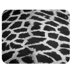 Black And White Giraffe Skin Pattern Double Sided Flano Blanket (medium)  by Nexatart