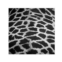 Black And White Giraffe Skin Pattern Small Satin Scarf (square) by Nexatart