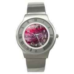 Love Hearth Background Wallpaper Stainless Steel Watch