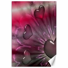 Love Hearth Background Wallpaper Canvas 12  X 18