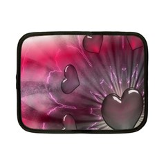 Love Hearth Background Wallpaper Netbook Case (small)