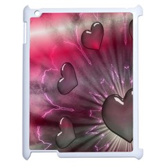 Love Hearth Background Wallpaper Apple Ipad 2 Case (white) by Nexatart