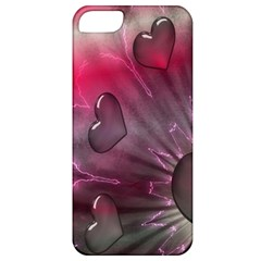 Love Hearth Background Wallpaper Apple Iphone 5 Classic Hardshell Case