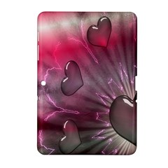 Love Hearth Background Wallpaper Samsung Galaxy Tab 2 (10 1 ) P5100 Hardshell Case