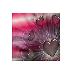 Love Hearth Background Wallpaper Satin Bandana Scarf