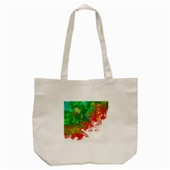 Digitally Painted Messy Paint Background Textur Tote Bag (cream) by Nexatart