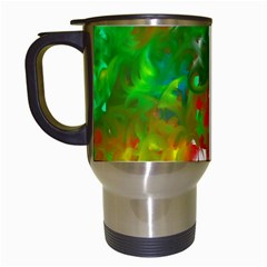 Digitally Painted Messy Paint Background Textur Travel Mugs (white) by Nexatart