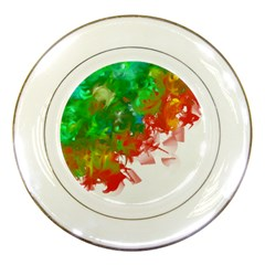 Digitally Painted Messy Paint Background Textur Porcelain Plates by Nexatart
