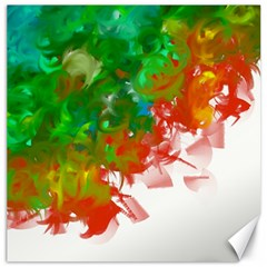 Digitally Painted Messy Paint Background Textur Canvas 12  X 12   by Nexatart