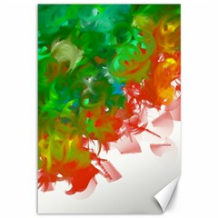 Digitally Painted Messy Paint Background Textur Canvas 12  X 18   by Nexatart