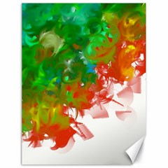 Digitally Painted Messy Paint Background Textur Canvas 18  X 24   by Nexatart
