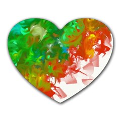 Digitally Painted Messy Paint Background Textur Heart Mousepads