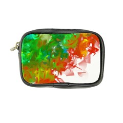 Digitally Painted Messy Paint Background Textur Coin Purse by Nexatart