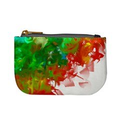 Digitally Painted Messy Paint Background Textur Mini Coin Purses by Nexatart