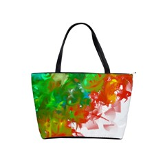 Digitally Painted Messy Paint Background Textur Shoulder Handbags by Nexatart