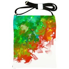 Digitally Painted Messy Paint Background Textur Shoulder Sling Bags