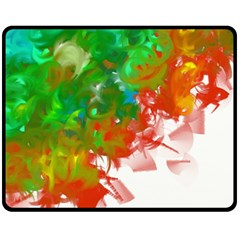 Digitally Painted Messy Paint Background Textur Fleece Blanket (medium)