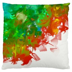 Digitally Painted Messy Paint Background Textur Large Cushion Case (two Sides) by Nexatart