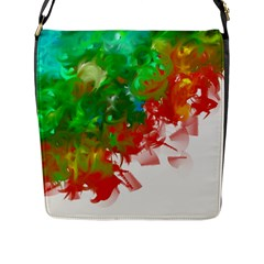 Digitally Painted Messy Paint Background Textur Flap Messenger Bag (l)  by Nexatart
