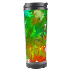 Digitally Painted Messy Paint Background Textur Travel Tumbler
