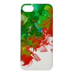 Digitally Painted Messy Paint Background Textur Apple Iphone 5s/ Se Hardshell Case
