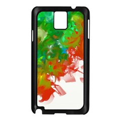Digitally Painted Messy Paint Background Textur Samsung Galaxy Note 3 N9005 Case (black) by Nexatart