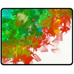 Digitally Painted Messy Paint Background Textur Double Sided Fleece Blanket (medium)  by Nexatart