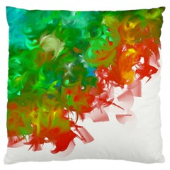 Digitally Painted Messy Paint Background Textur Large Flano Cushion Case (one Side) by Nexatart