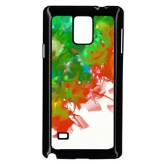 Digitally Painted Messy Paint Background Textur Samsung Galaxy Note 4 Case (black) by Nexatart