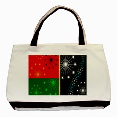 Snowflake Background Digitally Created Pattern Basic Tote Bag by Nexatart