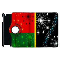 Snowflake Background Digitally Created Pattern Apple Ipad 3/4 Flip 360 Case by Nexatart