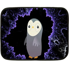 Fractal Image With Penguin Drawing Double Sided Fleece Blanket (mini)  by Nexatart