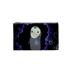 Fractal Image With Penguin Drawing Cosmetic Bag (small)